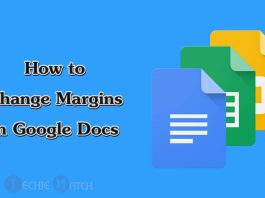 google docs change margins