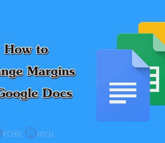google docs change margins