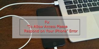 to allow access please respond on your iphone