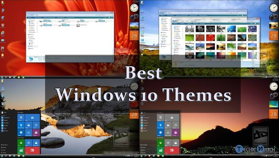 Top 10 Best Windows 10 Themes / Skins You Must Try - 2019