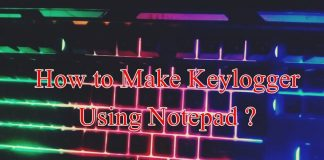 keylogger using notepad