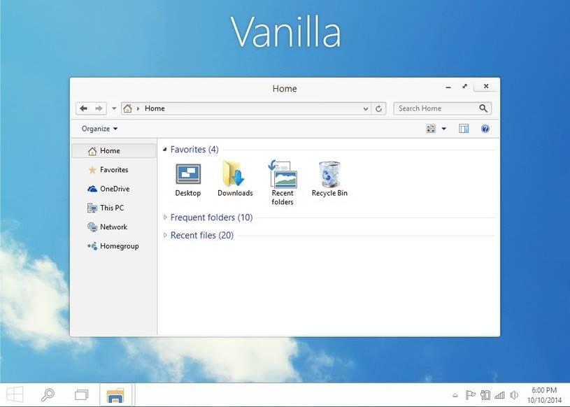 vanilla windows 10 theme