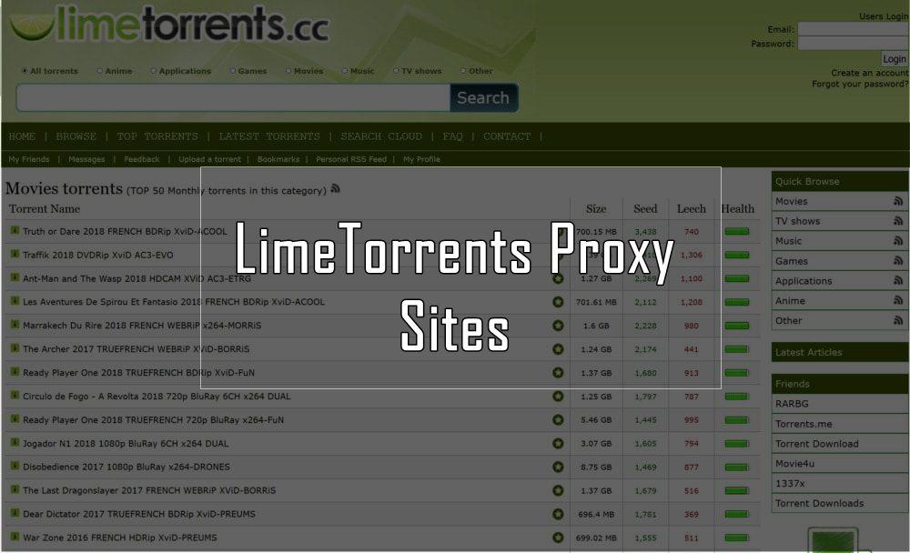 limetorrents proxy 2019