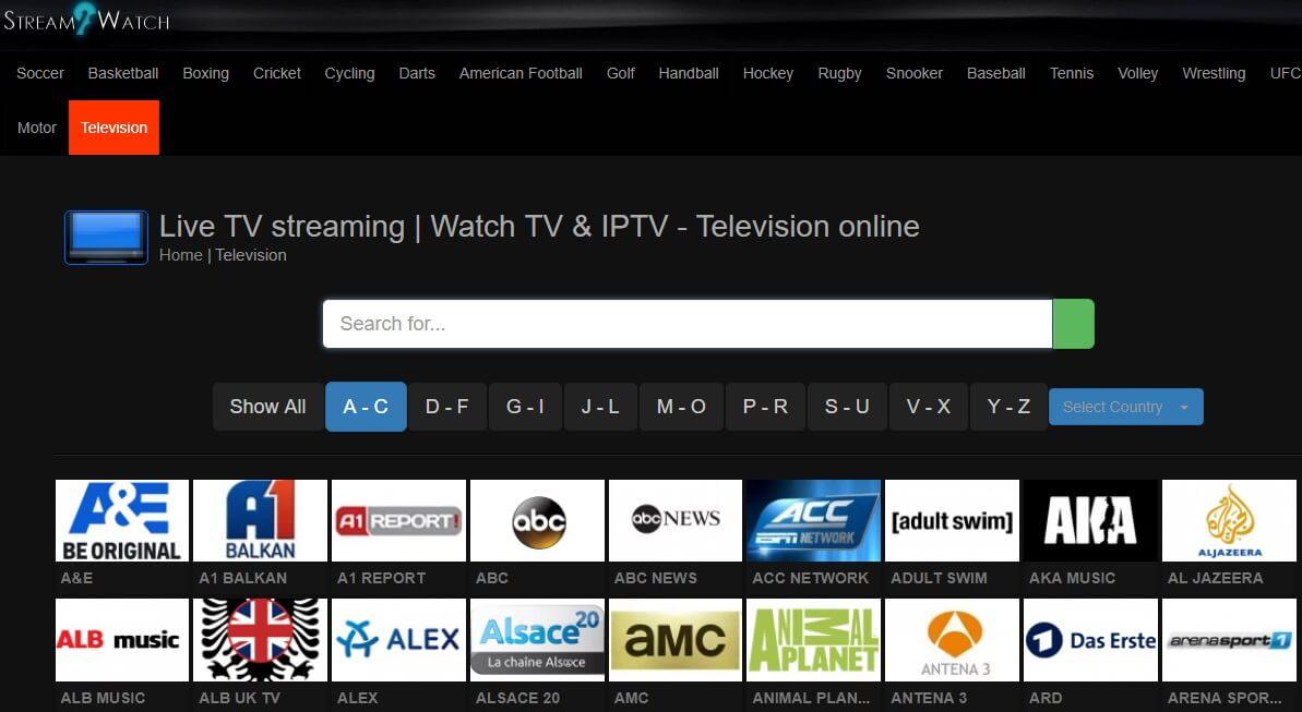 streams2 watch sports online