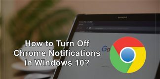 turn off chrome notofications in windows 10