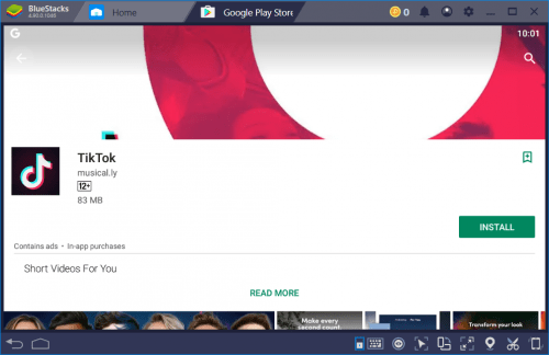 tiktok on bluestacks