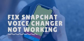 snapchat voice changer not working