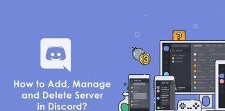 add manage delete server in discord