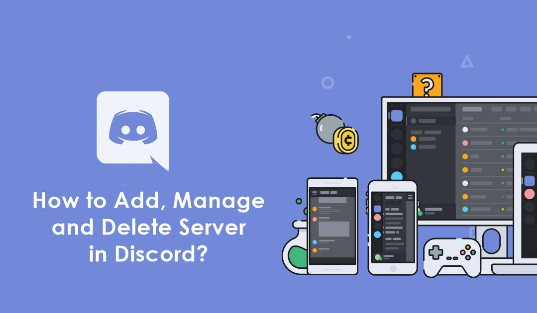 add manage delete server in discord