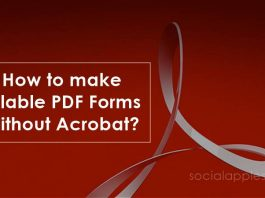 how to make fillable pdf form without acrobat