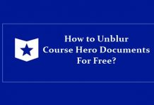 unblur course hero documents