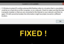 Fix C Windows System32 config systemprofile Desktop Is Unavailable