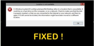 Fix C Windows System32 config systemprofile Desktop Is Unavailable