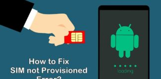How to Fix SIM not Provisioned Error