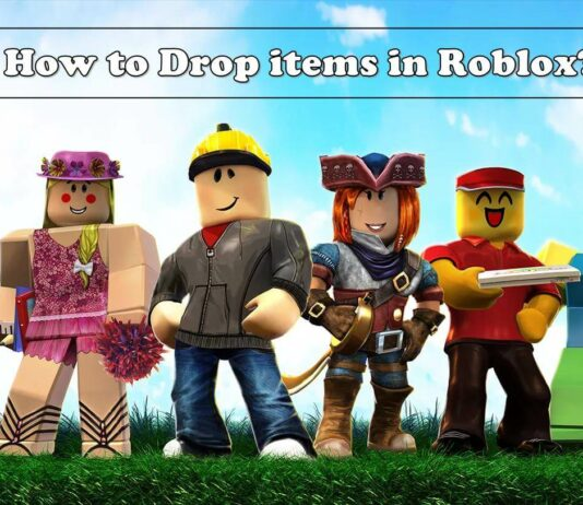 how to drop items in roblox