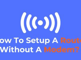 setup a router without modem