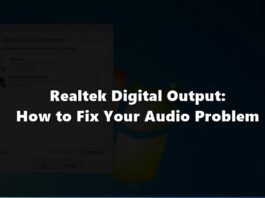 realtk digital audio output