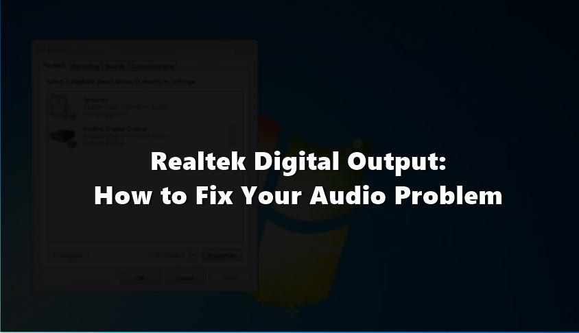 realtk digital audio output