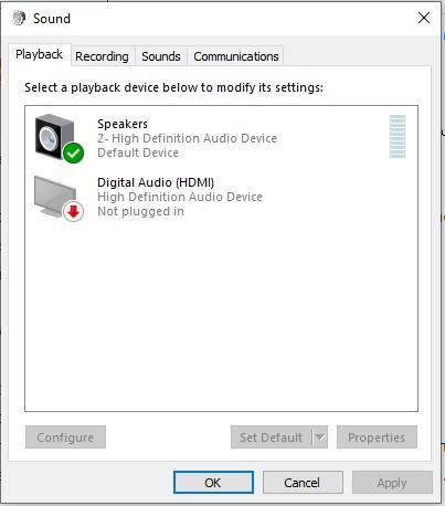 set default playback device realtek audio