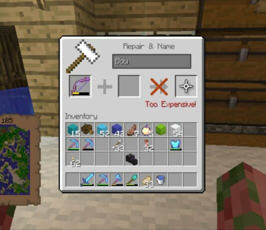 fix a bow in minecraft
