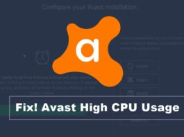 fix avast high cpu usage