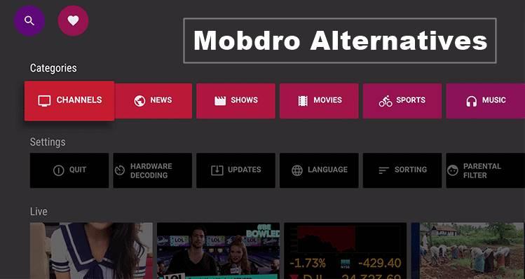 best apps like mobdro alternatives