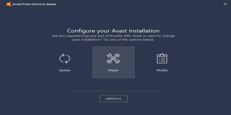 repair avast fix high cpu usage