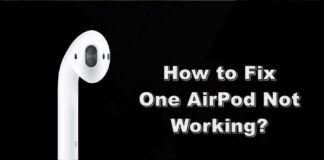 how to fix one airpod not working