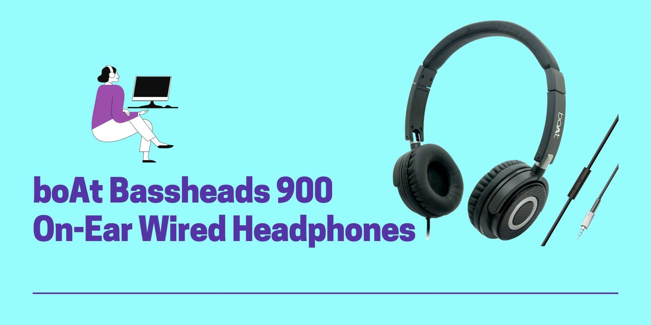 boAt Bassheads 900 On-Ear Wired Headphones